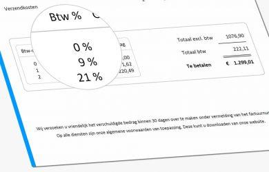 Laag btw-tarief van 6% naar 9% btw