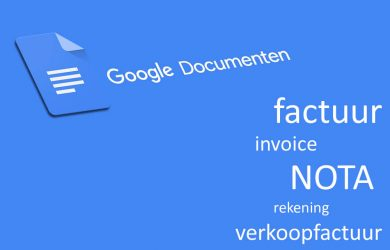 Google Documenten Factuur Template