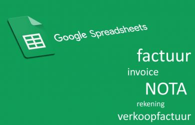 Google Spreadsheets Factuur Template