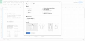PDF-factuur met Google Spreadsheet