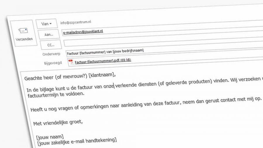 begeleidend schrijven factuur Voorbeeld begeleidende tekst bij factuur per e mail