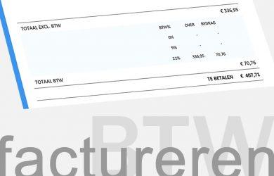 Voorbeeld BTW op factuur