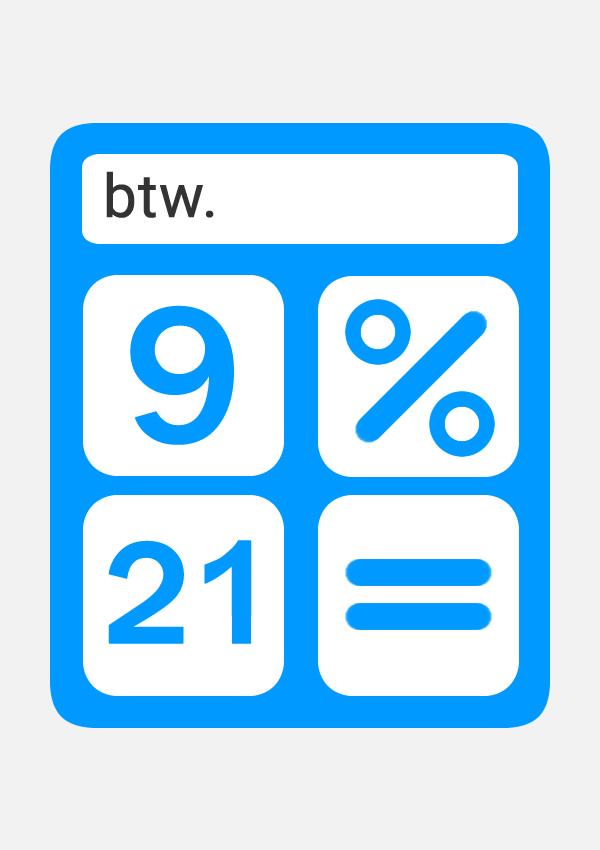 Btw rekenmachine om de btw te berekenen
