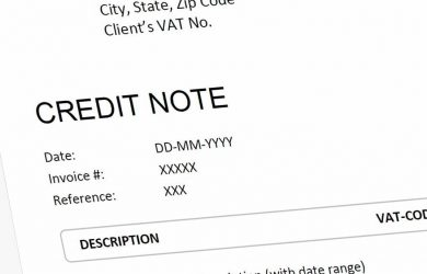 Credit Note / Memo / Invoice