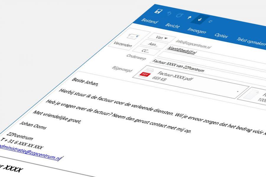 Excel factuur maken en versturen in PDF