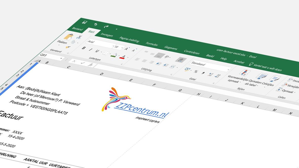 Voorbeeld van urenfacturatie in Excel