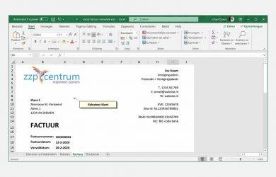 Factuurprogramma Excel gebruiken voor de facturatie