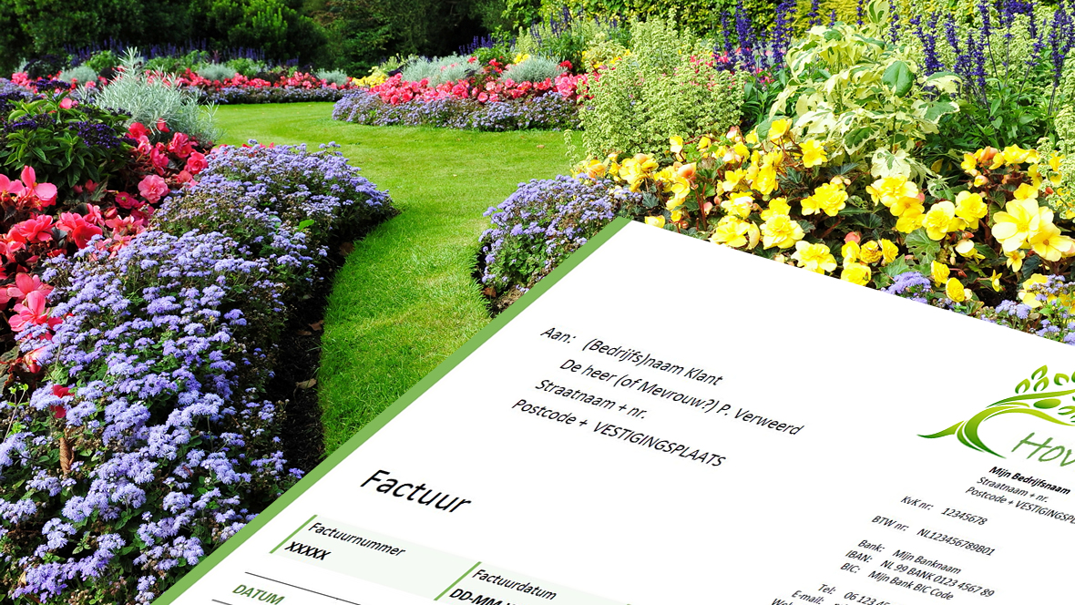 Online factuurprogramma voor hovenier en tuinman