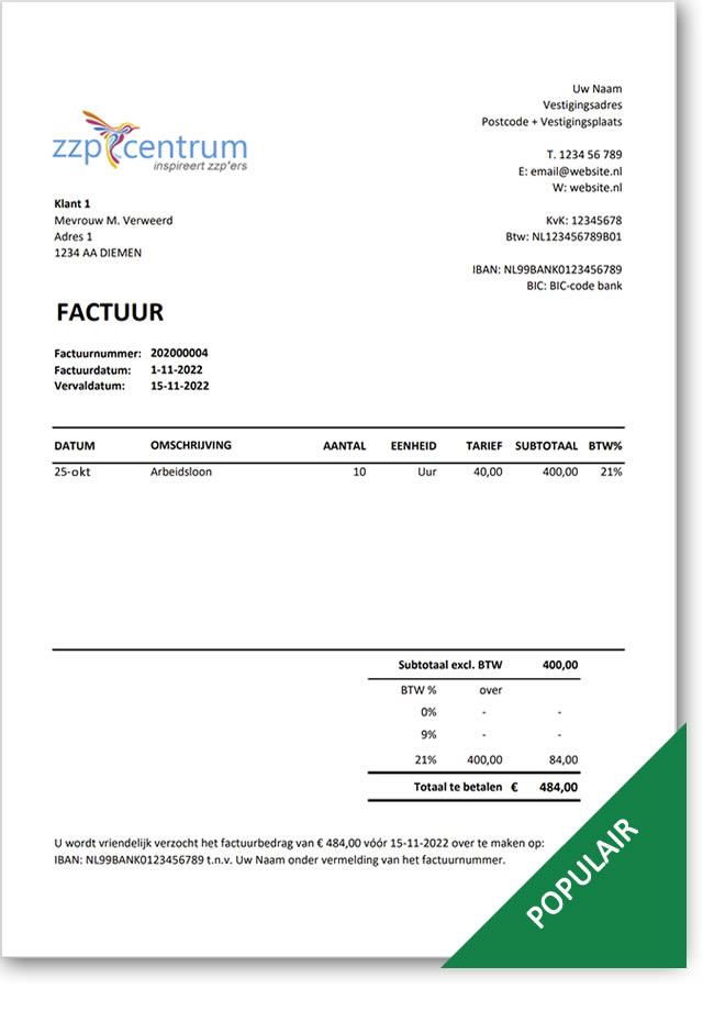 Sjabloon voor gratis factuur maken in Excel