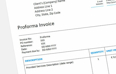 Proforma Invoice maken (voorbeeld)