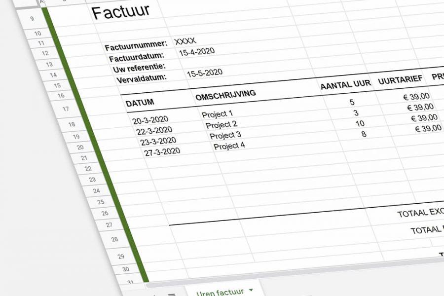 Excel uren factuur maken