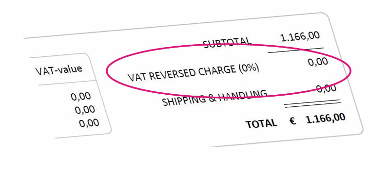 Invoice with VAT Reversed Charge