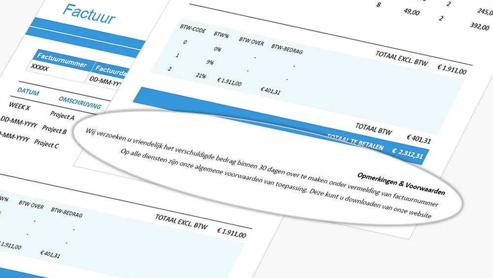 betalingstermijn factuur Betalingscondities op factuur. Tips en voorbeeld