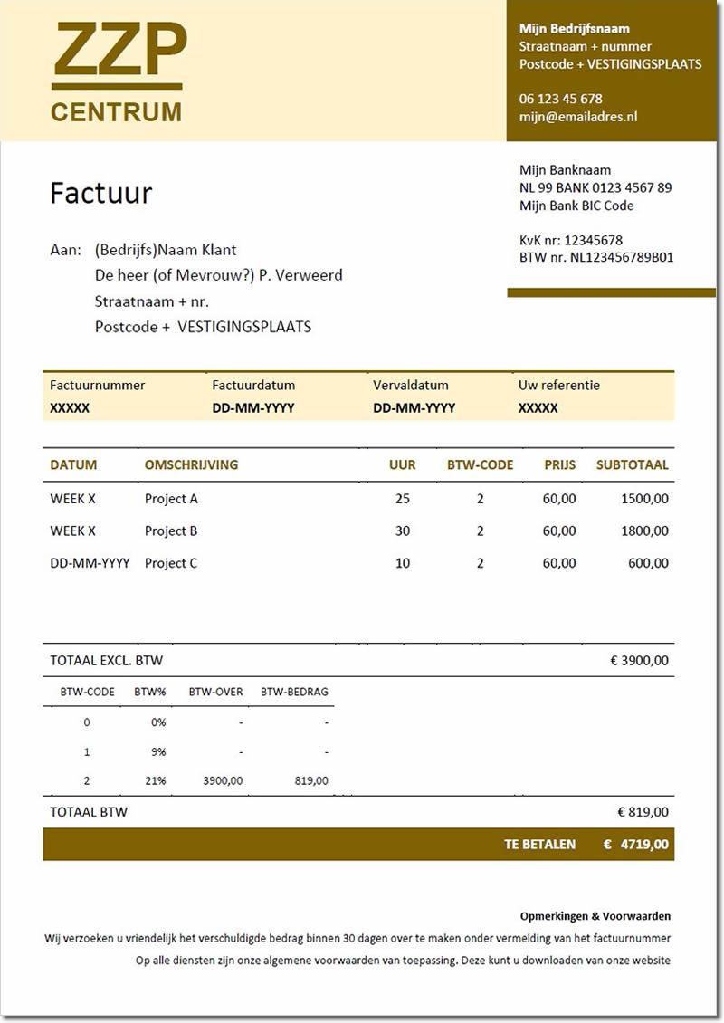 voorbeeld factuur bouw voorbeeld bouw klusbedrijf factuur   Factuur.tips