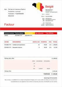 Factuur met BTW voor Belgische particulier
