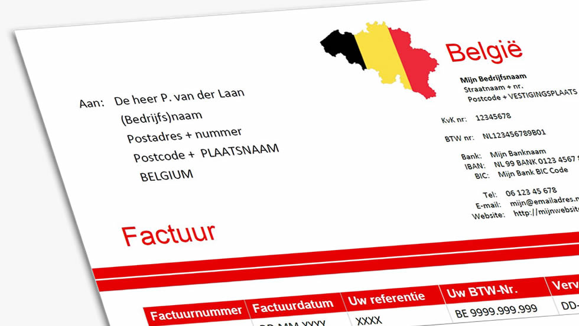factuur belgie Belgische factuur voorbeeld? Bekijk btw verlegd en btw factuur