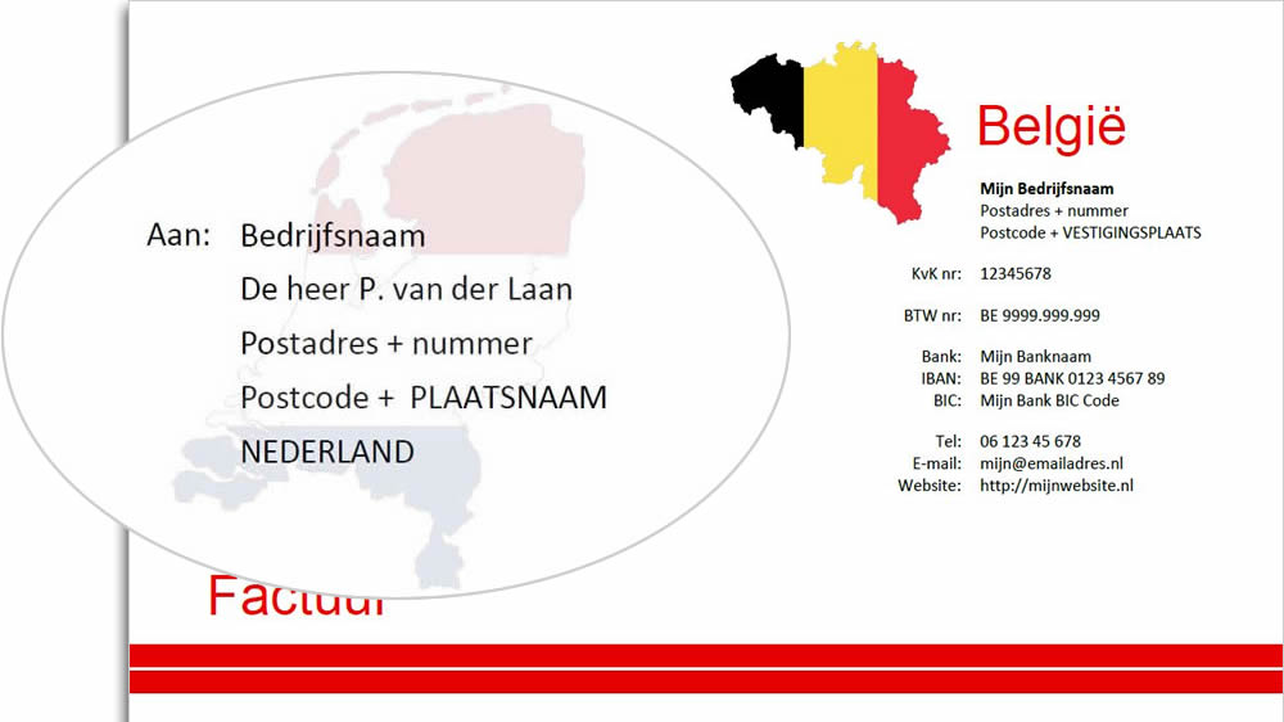 Voorbeeld van Nederlands adres