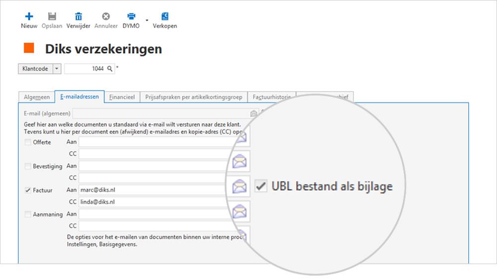 Automatisch UBL factuur maken in boekhoudprogramma