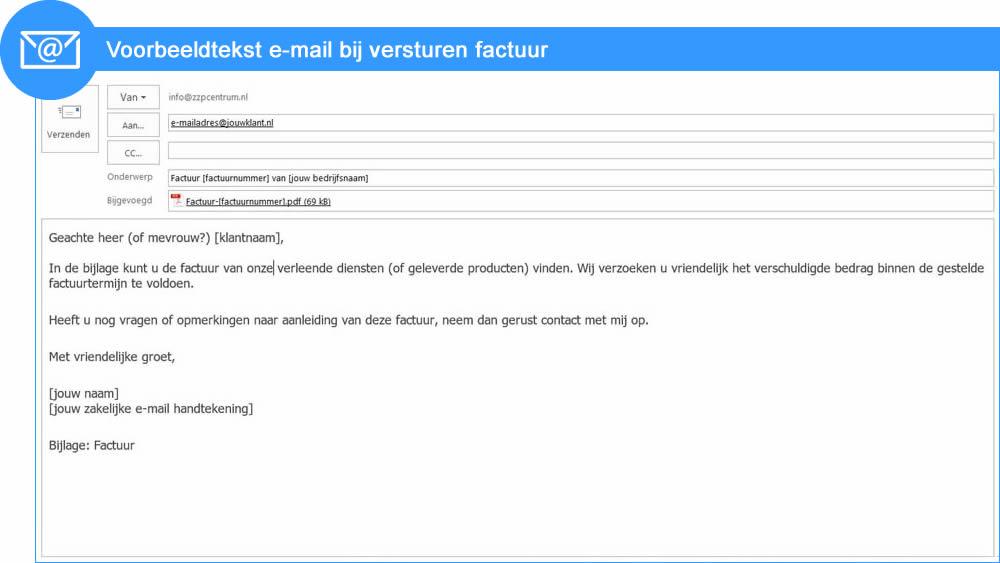 voorbeeldtekst e mail voor factuur   Factuur.tips