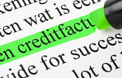 De creditfactuur uitgelegd