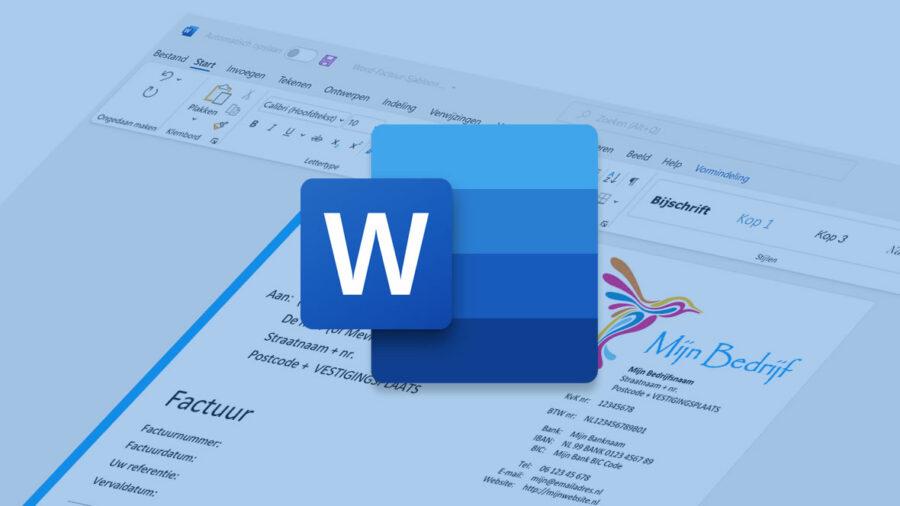 Word factuur templates voor de facturatie